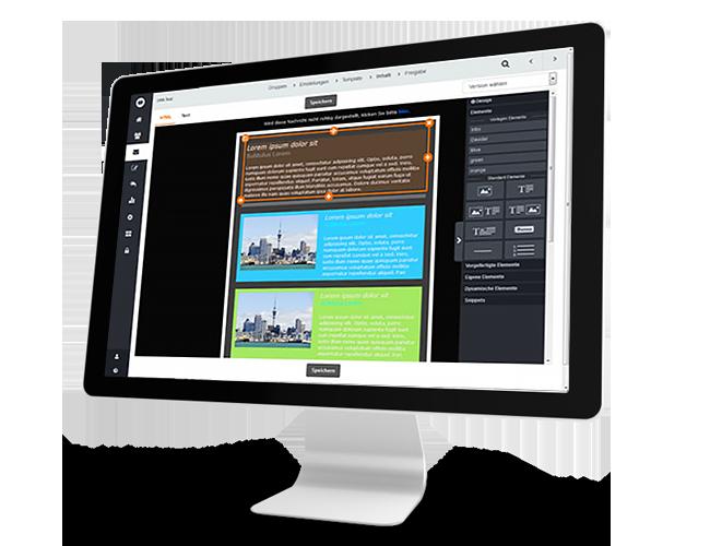 Erstellen Sie effiziente Newsletter mit unserem Drag & Drop editor